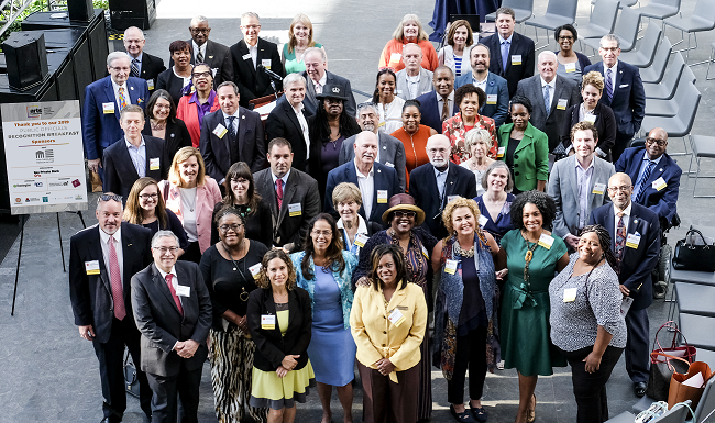 public officials group photo at 2019 breakfast