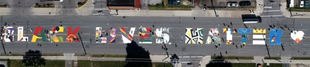 Black Lives Matter - street mural on Kinsman Ave, Cleveland